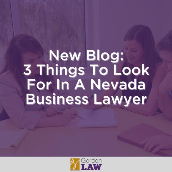 Nevada Business Lawyer